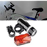 Auntwhale 5 LEDランプバイク自転車フロントヘッドライト 後ろの警告安全懐中電灯 MTB BMXマウンテンロードバイクサイクリング用 贈り物 ( 1個 )