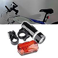 Aprettysunny 1Pc 5 LEDランプ自転車自転車フロントヘッドライト後部警告安全MTBのBMX BMXマウンテンバイクサイクリングギフトの安全懐中電灯