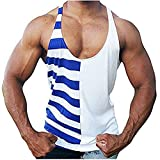Men's Gym Muscle Y-Back Stringer Vest Bodybuilding Workout Tank Tops Fitness Sleeveless T-Shirt …