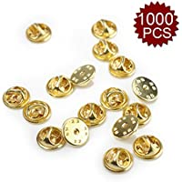 (Price/1000 PCS)ALICE Silver/ Golden Brass Butterfly Clutch, 0.4