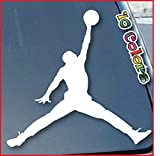 ジョーダン Air Jordan Car Window Vinyl Decal Sticker 6 Wide (Color: White) [並行輸入品]