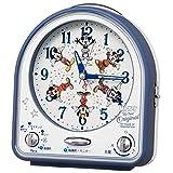 セイコークロック 置き時計 青 本体サイズ:14.3×12.9×7.0cm ミッキーマウス アナログ 切替式 アラーム FD820L