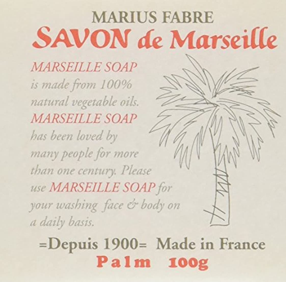 電気是正徐々にサボン ド マルセイユ パーム 100g