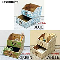 SPICE【QRFS2030】□【DL5】EMPOLI WOOD DRAWER BOX ブルー