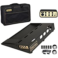 Friedman Amplification Tour Pro 1525 Gold Pack 15 x 25 Pedal Board with Riser Professional Carrying Bag and Buffer Bay 6 [並行輸入品]