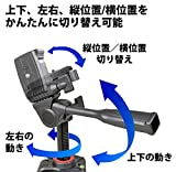 SLIK 三脚 GX 6400 4段 レバーロック 21mmパイプ径 3ウェイ雲台 クイックシュー式 216835_03
