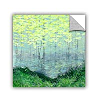 "ArtWall Herb Dickinson's Misty Lake Morning Art Appeelz Removable Graphic Wall Art, 14 x 14"" [並行輸入品]"