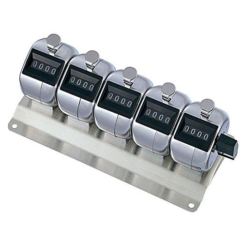 プラス 数取器 取付用5連用(4桁) 【質量420g】 30-929 KT-500