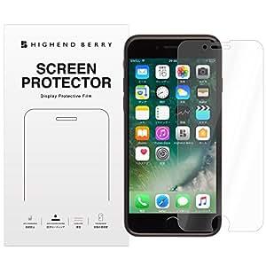 Highend berry iPhone7 Plus フィルム アイフォン7 プラス 液晶 保護フィルム 防指紋 ハードコート フィルム 2枚組 高光沢