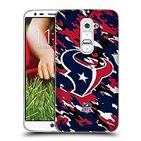 オフィシャル NFL カモフラージュ ヒューストン・テクサンズ ロゴ ソフトジェルケース LG G2 / D800 / D802 / D801
