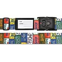 スーツケースベルト TSAベルト ナンバープレート柄 【人気 おすすめ 通販パーク】
