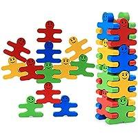 赤ちゃん木製おもちゃブロックバランスゲーム16pcs Early建物ブロック教育レンガおもちゃテーブルゲームクリスマスギフトfor Toddlers