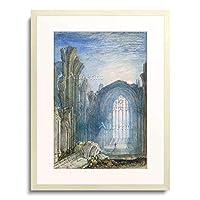 ジョゼフ・マロード・ウィリアム・ターナー Turner, Joseph Mallord William 「Melrose Abbey: An Illustration to Sir Walter Scott」 額装アート作品