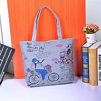 Has Many Uses Large Canvas Beach Bag Mobile Handbag Canvas Bag Women Tote Bag Shoulder Bags Bicycle