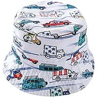 (コ-ランド) Co-land サマーハット 子供用帽子 赤ちゃん キッズハット 男の子 ベビーハット 鮮やか 車柄 プリント 紫外線対策 日除け (52)