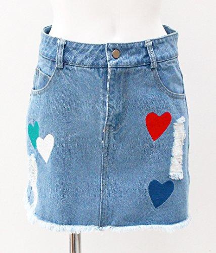 ANAP(アナップ) ハート刺繍デニムスカート