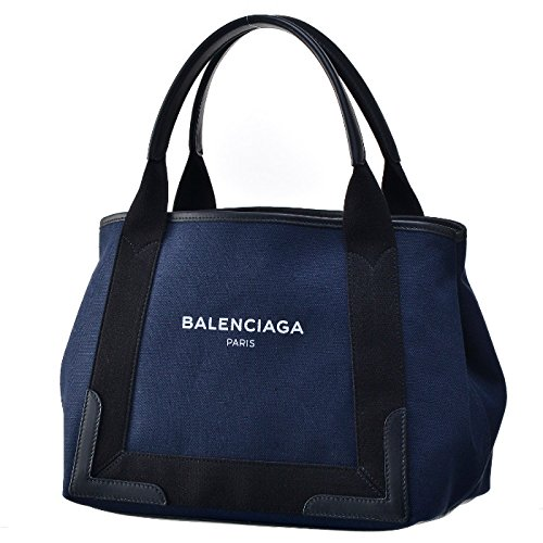 BALENCIAGA(バレンシアガ) ネイビー カバ s トートバッグ トート キャンバス navy cabas S トートバッグ 339933 K9H1N 4065 [並行輸入品]