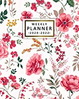 Weekly Planner 2020-2022: Pink Peony Three Year Planner & Schedule Agenda with Weekly Spread Views - Retro Floral 3 Year (36 Months) Organizer with Motivational Quotes, Vision Boards, Notes & More