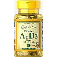 天然型ビタミンA&D31錠A5000IU・D400Iu1日1錠100日分Vitamins A&D3