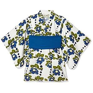 [タキヒヨー] 椿柄浴衣風ワンピース ガールズ 342447208 サックス 日本 110 (日本サイズ110 相当)