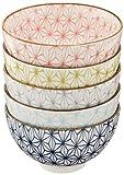 麻の葉 ご飯茶碗 5個セット 美濃焼