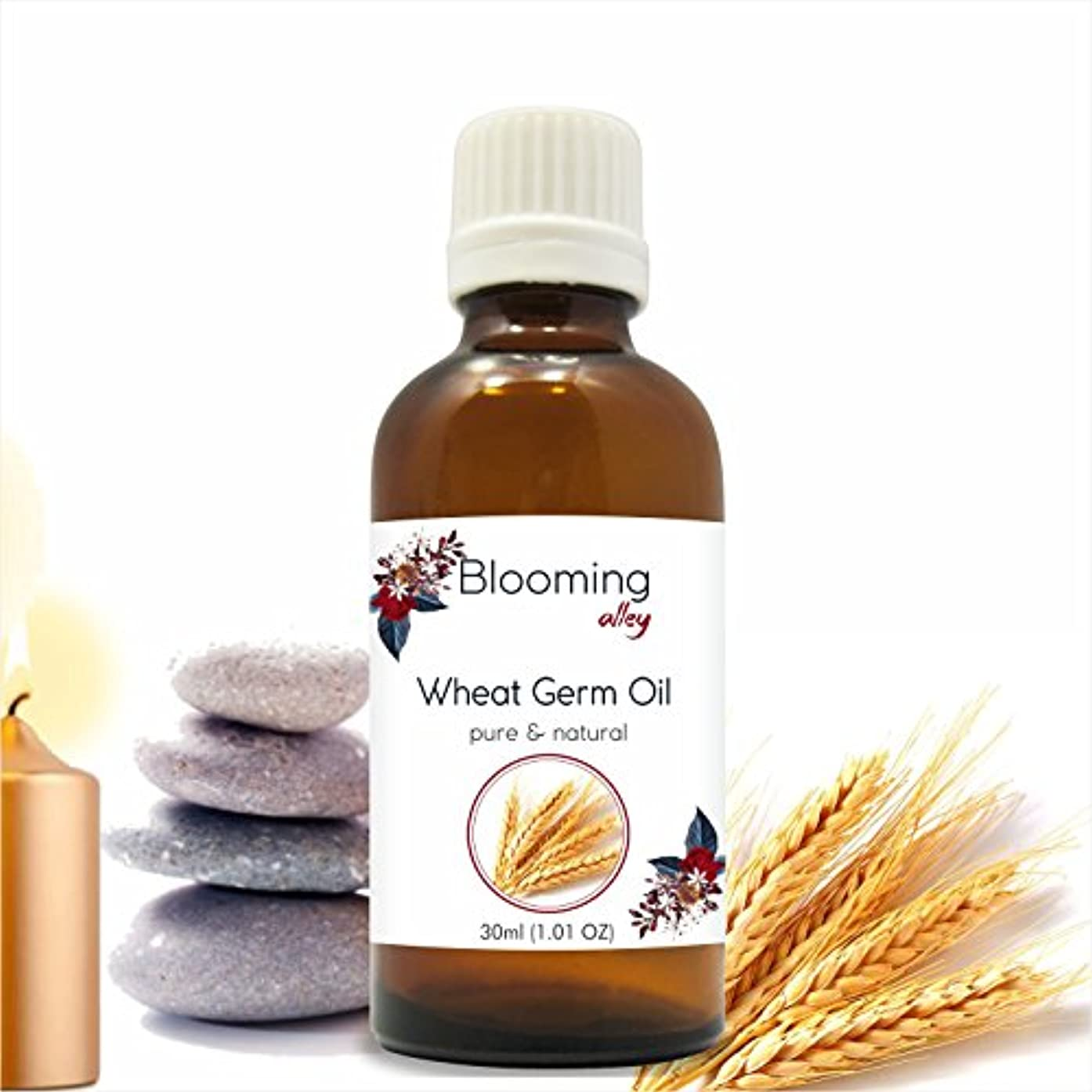 鬼ごっこモート評価可能Wheatgerm Oil(Triticum Aestivum) Essential Oil 30 ml or 1.0 Fl Oz by Blooming Alley