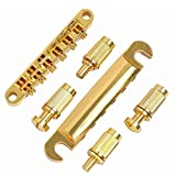 Musiclily ABR-1 Style Tune-o-matic Bridge and Tailpiece Set for Les Paul Style Guitar,Gold