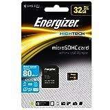 Energizer エナジャイザー microSDHCカード UHS-1 ハイテク 読込:80MB/s (32GB) カード SD変換アダプター付き