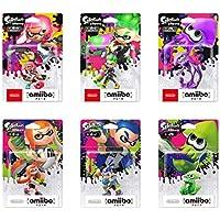 amiibo スプラトゥーン 6種セット ガール2種 ボーイ2種 イカ2種 ポストカード付き (スプラトゥーンシリーズ)