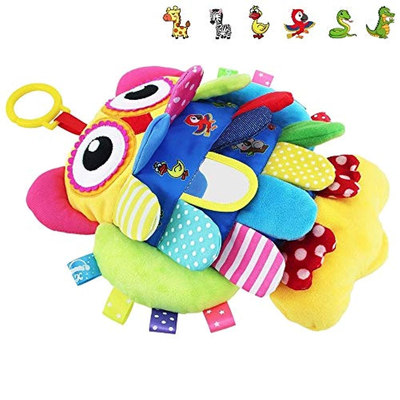 My First Soft Baby Toy, TEYTOY 非毒性ファブリック フリップ フクロウ 早期教育玩具 アクティビティ クリンクルクロス 幼児 乳児 子供用 ベビーシャワーに最適