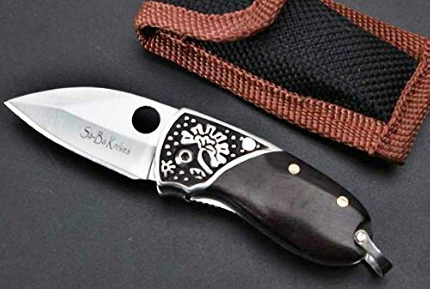 エレベーターずるいヒロインSE-BA ベアクロー 黒檀木製ハンドル 折りたたみナイフ 直刃