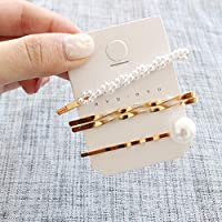 COODIO Korean Style Girl Metallic Pearl Hairpin Fashion Sweet Style Bang Clip for Fashion Jewelry