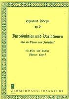 """BOEHM - Introduccion y Variaciones Op.9 sobre un Tema de """"Der Freischutz"""" para Flauta y Piano (Eppel)"""