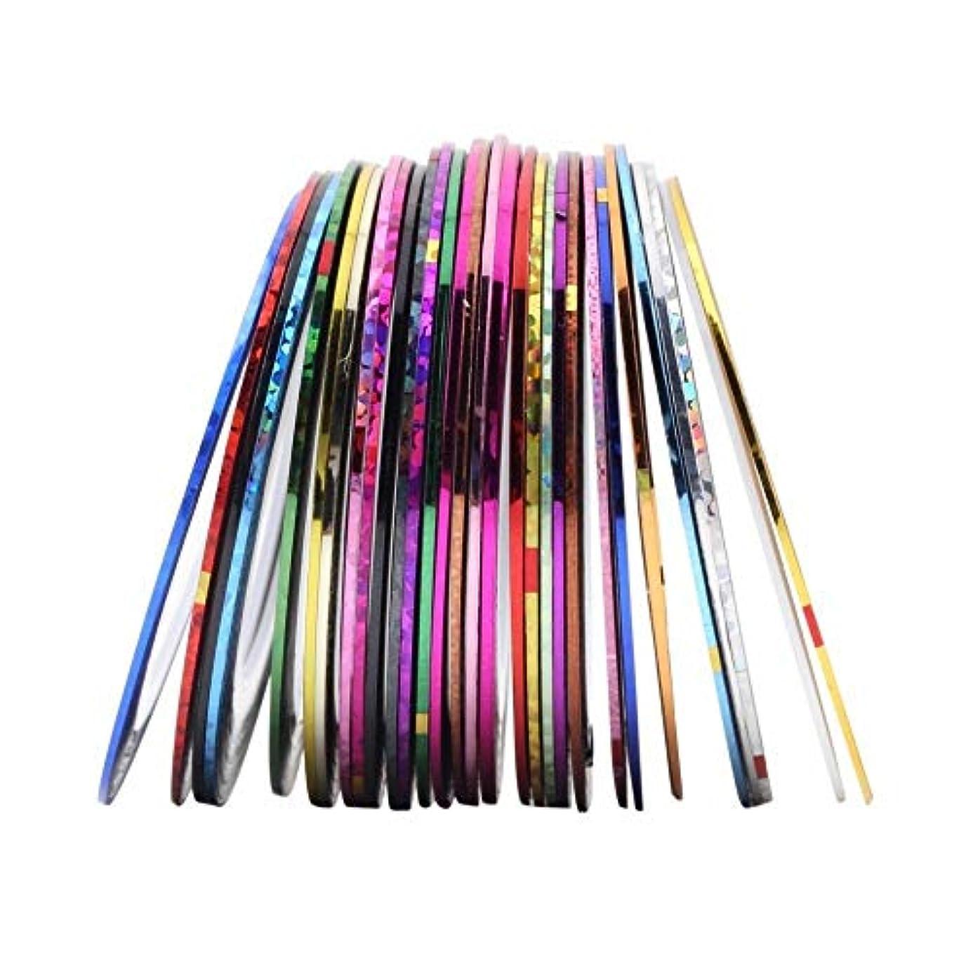 アラブ子僕のネイル用品 ラインテープ シート ジェルネイル用 マニキュア セット ジェルネイル アート用ラインテープ 専用ケース 38色/セット