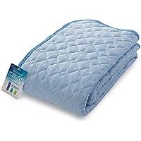 【ナイスデイ】ひんやり 敷きパッド 接触冷感 Q-max0.516 洗える 敷パッド 抗菌 防臭 リバーシブル シングル ブルー 570501