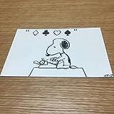 スヌーピーミュージアム 限定 原画ポストカード スヌーピー タイプライター 葉書 ハガキ はがき メッセージカード