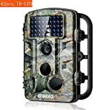 enkeeo トレイルカメラ 赤外線LEDを42個搭載 1080P HD 1200万画素 120°検知範囲 0.2~0.6s高速トリガ IP54防水 動体検知 狩猟 防犯などに 日本語取扱説明書付 PH730【メーカ保証】