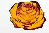 透明感抜群 彫綺麗 琥珀薔薇彫り14.2gルースno2