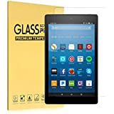 "Fire HD 10 Screen Protector(7th Generation, 2017), iThrough® Tempered Glass Screen Protector Film for All-New Fire HD 10 Tablet with 10.1"" 1080P, HD Clear Bubble Free 9H Hardness Screen Protector"