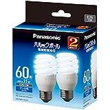 パナソニック 電球形蛍光灯 パルックボール 電球60W形相当 E26口金 クール色相当   2個入り EFD15ED11E2T