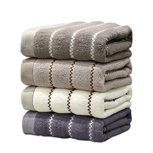 ASKARI タオル セット ホテル仕様 ふんわり 吸水速乾 やわらか 綿100% フェイスタオル 4色 4枚組 厚手 120g/枚 ( 75cm*35cm )