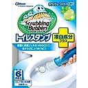 スクラビングバブル トイレ洗浄剤 トイレスタンプ 漂白成分プラス ホワイティーシトラスの香り 本体 (ハンドル1本 付替用1本) 6スタンプ分 38g