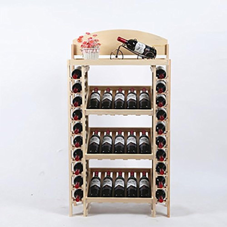 ワインラック、ワインラック収納ラック木製ワインラックディスプレイスタンド、4色 (色 : D)
