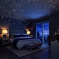 満天の星 蓄光 光るシール DIY ウォールステッカー 子供部屋 寝室 天井 壁飾る 夜光 星 月 室内装飾  きらきら 雰囲気満点 パーティー クリスマスグッズ