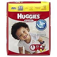 Huggies Baby Diapers, Snug & Dry, Size 5 (Over 27 lbs), 25 ct by Huggies