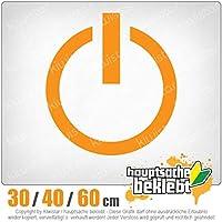 KIWISTAR - Power Off - On / Off switch 15色 - ネオン+クロム! ステッカービニールオートバイ