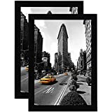 Americanflat 2 Pack - 11x17 Picture Frames - Made for Legal Sized Paper - Wall Mounting Material Included