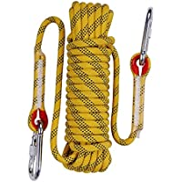 QIANGSHENG 多目的ロープ 太さ: 10mm 長さ: 20m 50m 耐荷重1000㎏ セット アウトドア キャンプ 防災