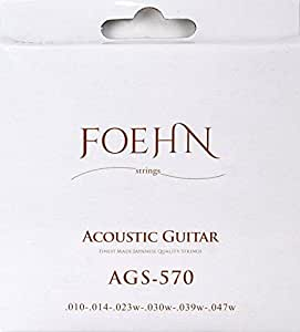 FOEHN AGS-570 Acoustic Guitar Strings Extra Light 80/20 Bronze アコースティックギター弦 10-47