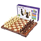 Peradix チェス デラックス 折り畳み 教育戦術ゲームセット(30*35cm) 32 PCS
